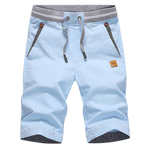Shorts Sommer Bermuda Herren Cotton Trousers Men Weisse Caprihose Kurze Hose Kurze Jeans Hosen Kurze Jogging Hosen Sweatpants Baggy -