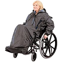 Ability Superstore Mac - Impermeable de manga larga para silla de ruedas (sin forro)