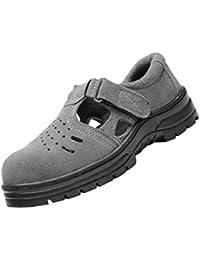 NON Sharplace Zapatos de Sandalias de Seguridad Resistentes al Aceite Antideslizantes Ligeros Perforados Zapatos de Trabajo con Puntera de Acero - EU 42 US 9 UK 8