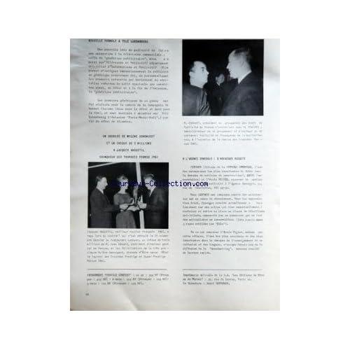 MIROIR DE L'INFORMATION DE LA PUBLICITE ET DES RELATIONS PUBLIQUES (LE) [No 205] du 17/11/1961