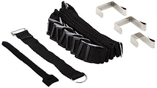 Wenko 8225100 Taschengarderobe -Kunststoff - Polyamid, Schwarz