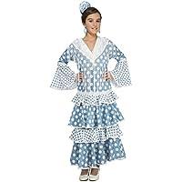 My Other Me - Disfraz de flamenca Guadalquivir, color turquesa, 7-9 años (Viving Costumes 202956)