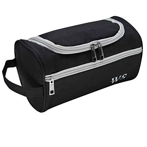 Viaggiare lavare Borsa Borsello appeso gancio Dopp Kit sanitario borsa organizzatore viaggi per bagno doccia rasatura toelettatura accessorio Unisex (Nero)