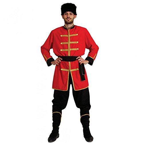 Kostüm Kosaken - Kostüm Kosake Gr. M- XXL Jacke Hose Mütze Militär Ukraine Russland Krieger (Medium)