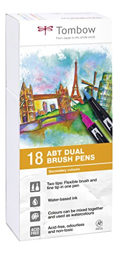 tombow-abt-dual-brush-pen-secondary-colours-pack-of-18