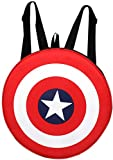 #7: Auxter Red Polyester 20L Avengers Captain America Shield School Backpack