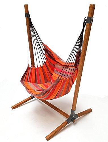 Chaise hamac LazyRezt XL Mandarine avec support Bambou