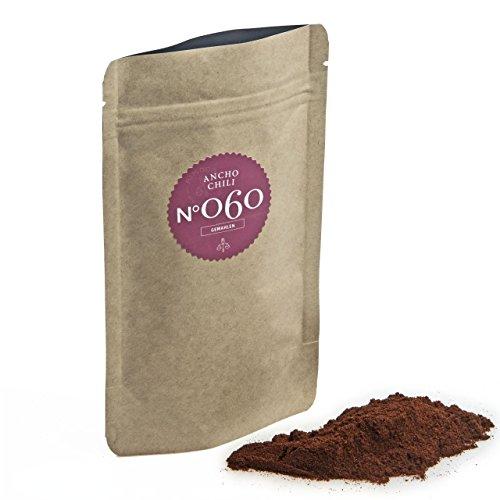 Chili Ancho N°060 - mildes & schokoladiges Chili, im praktischen Kraftpapier Zip-Beutel, Inhalt:...