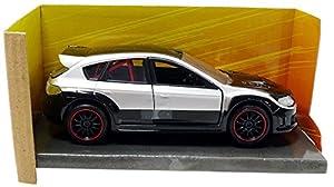 Jada Toys-Impreza WRX STI Brian Fast and Furious Subaru vehículo en Miniatura, 98507bk/S, Gris/Negro, (Escala 1/32