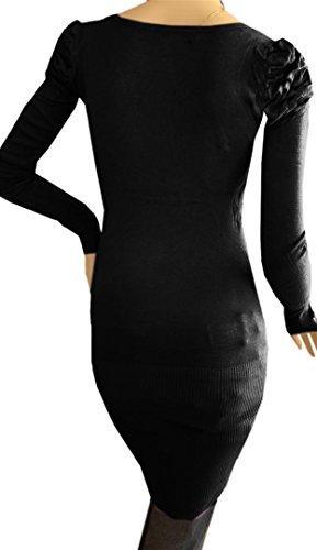 DIVA-MODE -  Vestito  - Maniche lunghe  - Donna Nero