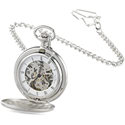 Charles-Hubert, Paris Satin Finish Mechanical Pocket Watch