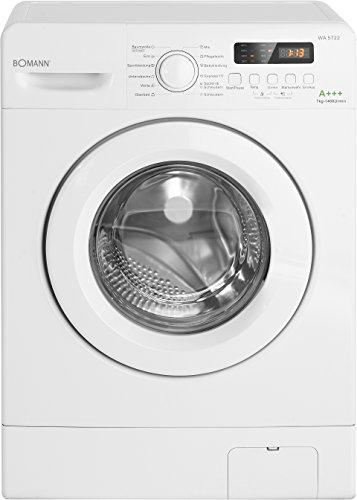 Bomann WA 5722 Waschmaschine Frontlader/EEK A+++ / 7 kg / 12 Waschprogramme plus Zusatzprogramm / 1400 UpM/LED Display/Schaumregulierung/Weiß