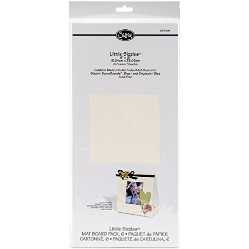 Sizzix 656491 Little Sizzles 15cm by 33cm Mat Board , 6-Pack, Cream Sheets by Sizzix
