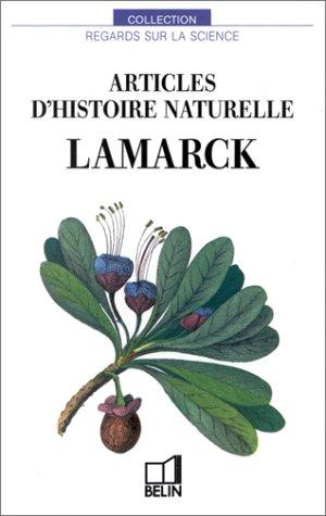 Articles d'histoire naturelle