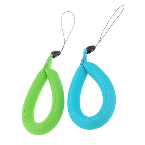 LEDMOMO Kamera Schwimmer, 2Pcs Universal wasserdicht Schaum schwimmende Handgelenk Armband für Kamera, Schlüssel, Sonnenbrillen und Handys (GreenBlue)