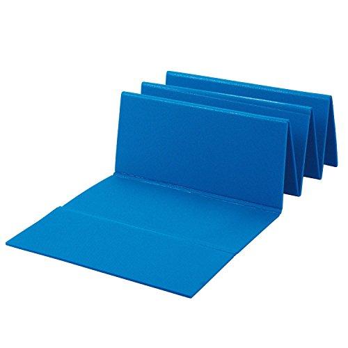 BECO PE-Faltmatte Matte 180 x 51 x 0.7 cm Training Fitness Yoga Home blau