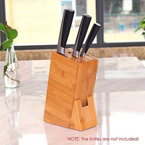 ALICED Slot-Messerblock, Küchenmesser Halter Mit Schaum Anti-Rutsch-Pads