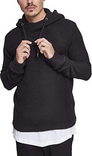 Urban Classics Herren Loose Terry Inside Out Hoodie Kapuzenpullover, Schwarz (Black 00007), XX-Large Inside Out Long Sleeve Sweatshirt