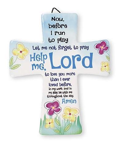 Porzellan–Kreuz/ME Lord.... 51/5,1cm X 43/10,2cm–Aufhänger und Aufsteller