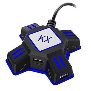 Happon Maus-Konverter KX, Adapter für Controller für Maus/Tastatur, tragbar, USB 2.0, kompatibel mit PS4/Xbox One/Nintendo Switch/PS3