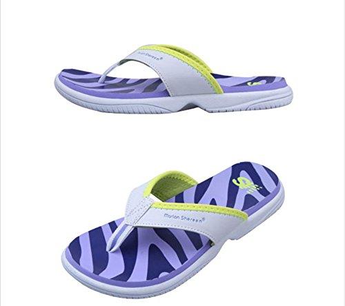 flip-folps Happy Lily ergonomico antiscivolo suola da piscina y-style tanga tacco interno o esterno scarpe scarpe casual pantofole per donne Purple