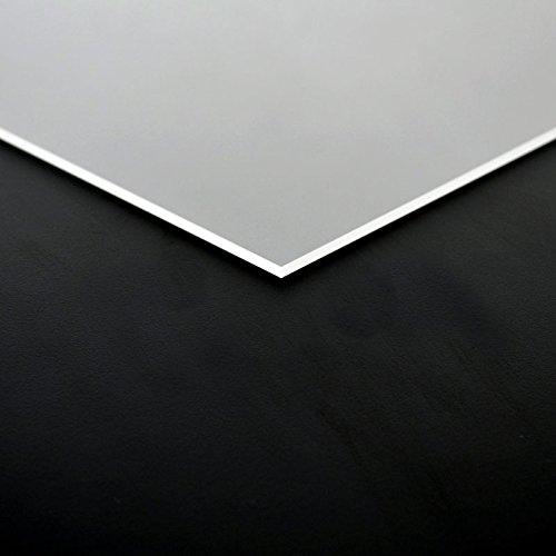 3mm Acrylglas Platte 50x25 cm satiniert Milchglas