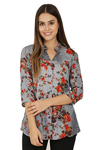 2Day Women's and Styish Rayon TOP (Pack OF1) (Grey, X-Large)