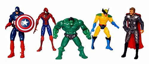 AVENGERS 5 In 1 Twist and Move Action Figure Set(charecters may vary)