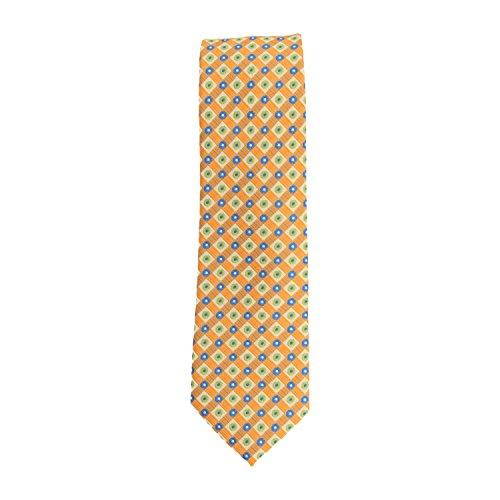 Cravatta stretto club cravatta poliestere arancione diamante