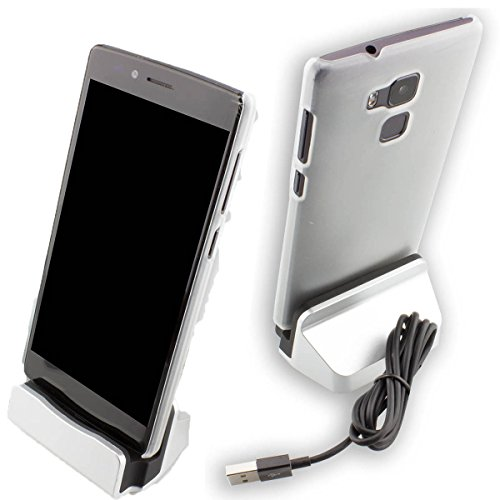 caseroxx - USB Type-C Docking Station, caricabatteria Desktop per Ulefone Gemini Pro, Caricabatterie da tavolo (Gemini Tavolo)