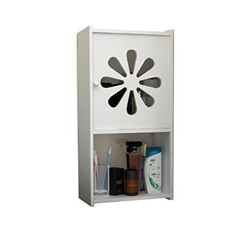 LUYIASI- Storage Rack Europäische Moderne Einfache Kunststoff Badezimmer Aufbewahrungsschränke WC-Tisch Wand Hänge Freie Bohrung Bad Schrank Spacesaver Soft White Finish Bathroom Racks (Farbe : I)