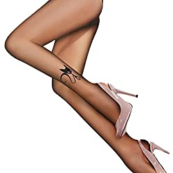Toocool–Medias Collant velate Mujer Gato cintura baja brillantes nuevos Party nuevos P54 negro Talla única