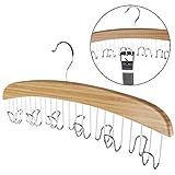 Holz-Kleiderbügel für 12 Gürtel Garderobenbügel Schalbügel Holzbügel Bügel