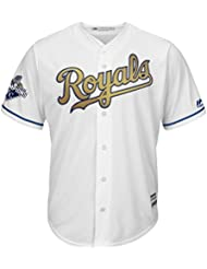 Majestic Royals de Kansas City Cool Base MLB Jersey/or/W 2015 Champs Patch