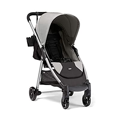Mamas & Papas Armadillo City² Slim Folding Pushchair, Compact and Lightweight Travel System, Spacious from Birth, Grey Marl