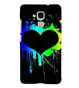 A2ZXSERIES Heart Love Back Case Cover for Huawei Honor 7 Lite, Huawei GT3