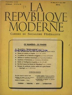 REPUBLIQUE MODERNE (LA) [No 2728] du 15/05/1947