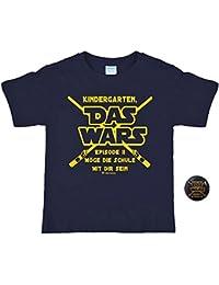 """T-Shirt Spruch Kindergarten """"Das Wars"""" Geschenk Schulanfang + Gratis Anstecker/Button"""