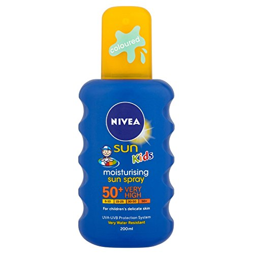 6 x Nivea Sun Kids Moisturising Sun Spray 50 + Very High 200 ml