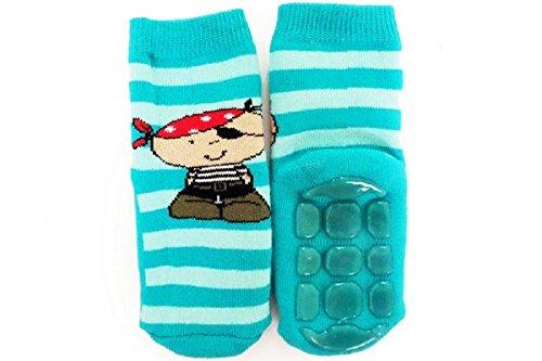WERI Spezials ABS Socke 'Ein lustiger Pirat', Größe:23/26, Farbe:seegrün