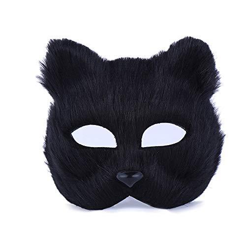 (Wenwan Halloween Masquerade Mask Cat Face Half Face Maske)