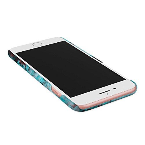 Trippy Blue Smoke Relax Dünne Rückschale aus Hartplastik für iPhone 7 Plus & iPhone 8 Plus Handy Hülle Schutzhülle Slim Fit Case cover Chill Vibes