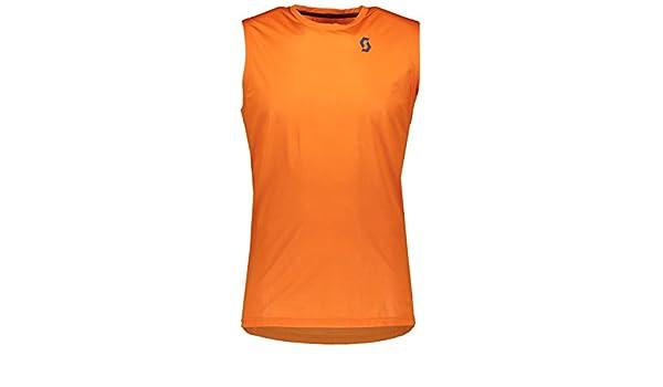Scott Trail MTN Aero Sleeveless Mens Cycling Jersey Orange Large