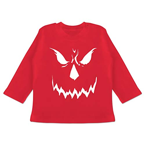 Anlässe Baby - Scary Smile Halloween Kostüm - 18-24 Monate - Rot - BZ11 - Baby T-Shirt Langarm