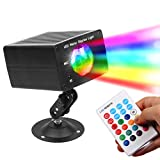 Disco Lights Ocean Wave Projector-16 Colors DJ Lights Water effect With Sound Activated Remote Control Rotating Strobe Party Light-Best for Wedding Kids Birthday Xmas Halloween Decorations