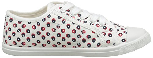 Kappa Keysy Unisex-Kinder Sneaker Mehrfarbig - Multicolore (White Dot Red)