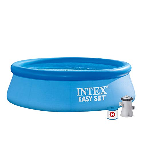 Intex Easy Set Pool - Aufstellpool - mit Filter, 244cm x 244cm x 76cm