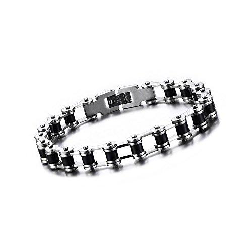 BOBIJOO Jewelry - Pulsera De Cadena De La Motocicleta De Hombre De...