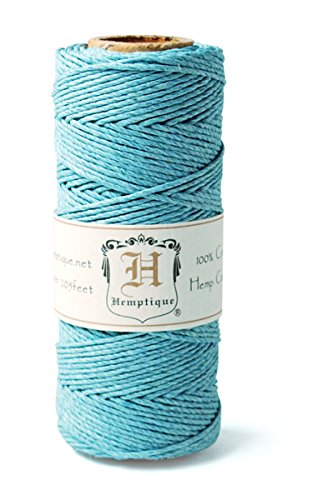Hemp Cord Spool 20# 205'/Pkg-Light Blue -