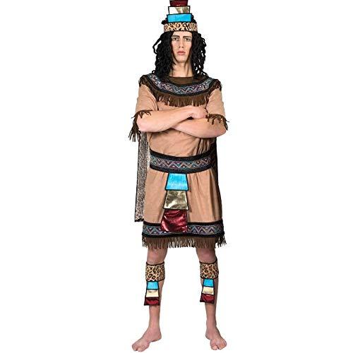 Kostüm Azteke Herr Inyan Größe 48/50 Herrenkostüm Mexiko Ethno Nationen Südamerika Inka Völker Pierro's - Südamerika Kostüm Kinder